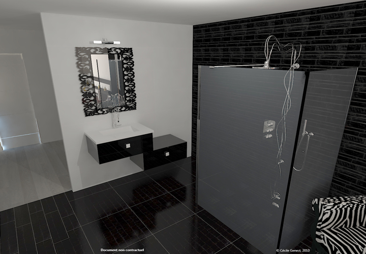 3d projet deco projets 3d de salles de bain de style moderne. Black Bedroom Furniture Sets. Home Design Ideas